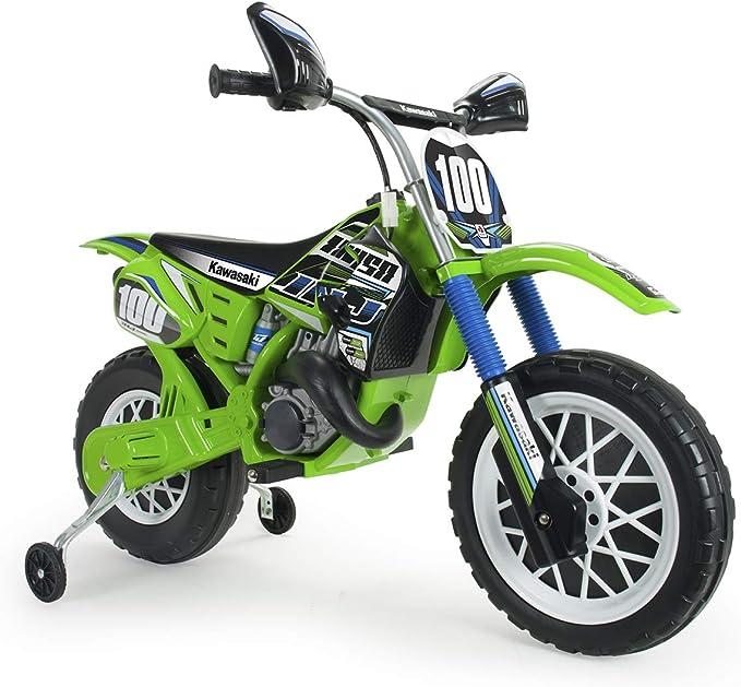 INJUSA - Moto Cross Kawasaki a Batería 6V Licenciada con ...