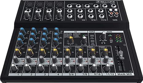 Mackie Mix12Fx - Mesa de mezclas: Amazon.es: Instrumentos musicales