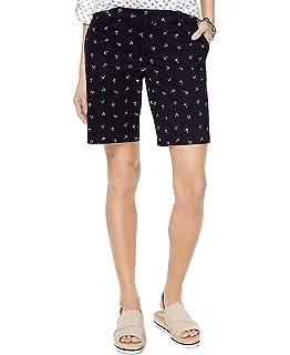 5795781628caf Tommy Hilfiger Womens Nautical Anchor Print Bermuda Shorts at Amazon ...