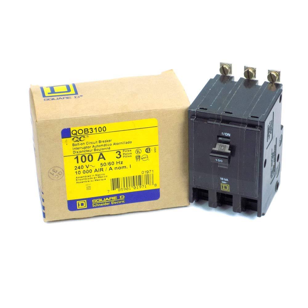 qob3100 Square D disyuntor qob (estándar, 100 a, 3 polos, 240 VAC ...