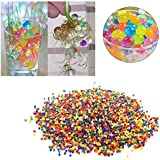Something4u Water Beads Gel Pearls 4 Colour Rainbow Mix, 80gm - Pack of 1800