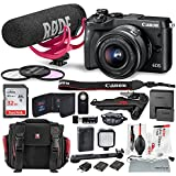 Canon EOS M6 Mirrorless Digital Camera with 15-45mm Lens Video Creator Kit and Bundle w/Xpix Pro Tripod, Case, Strap, Cleaning Kit + More