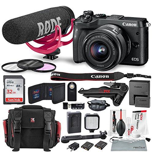 Canon EOS M6 Mirrorless Digital Camera with 15-45mm Lens Vid