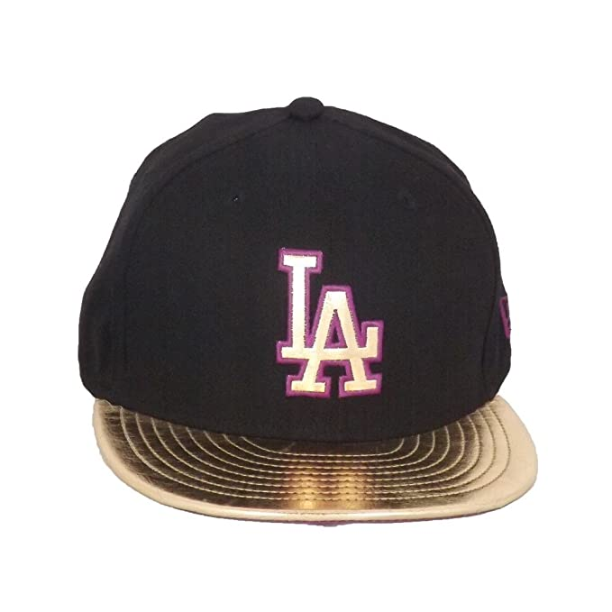aea4bca9aa08e A NEW ERA Gorra 9fifty MLB Wmns Lic010 Los Angeles Dodgers Negro Dorado Morado  Talla  Ajustable  Amazon.es  Ropa y accesorios