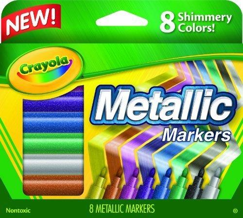 Crayola Metallic Markers, 8 Count by Crayola (English Manual)