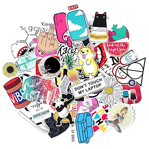 Stickers for Water bottles,Waterproof,Aesthetic,Trendy Sticker for Teens,Girls,Perfect for Waterbottle,Laptop,Phone,Travel,Car Skateboard Motorcycle Bicycle Luggage Guitar | Big 50-Pack | Extra Durabl