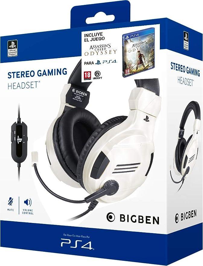 Pack Assassins Creed Odyssey + Auriculares PS4 Headset v3 Blanco (Edición exclusiva Amazon): Amazon.es: Videojuegos