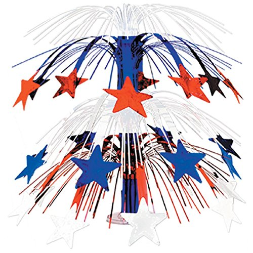 Club Pack of 6 Multi-Colored Cascade Star Cut-Out Table Centerpiece Decoration 18''
