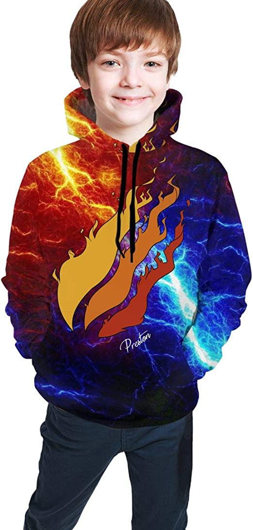 Muindancer Preston Playz Hoodie Nation Fire Sweater Youth Hoodies Sweater Hoody Fashion Pullover Sweatshirt for Boys//Girls