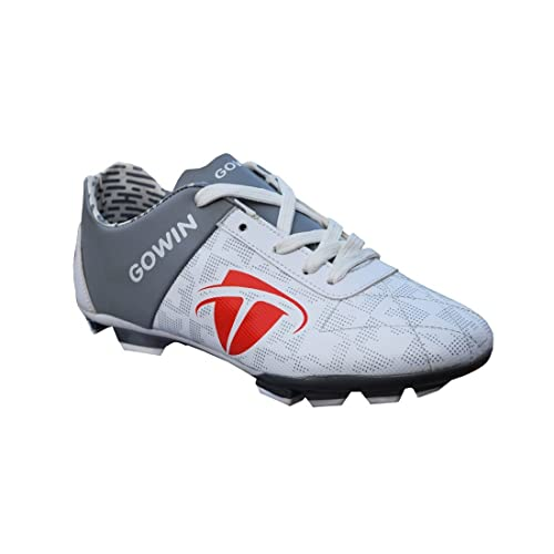 4d0267cfeef Gowin Champion White Grey Football Shoes Size-6  Buy Online at Low Prices in  India - Amazon.in