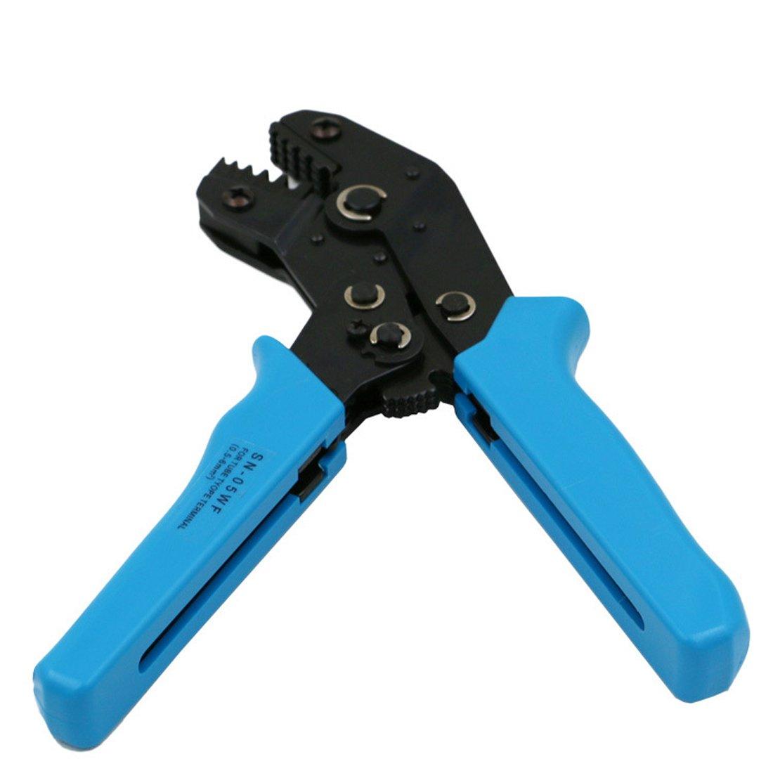 Crimpadora Cable Terminal crimpadora de trinquete 0,5 - 6 mm: Amazon.es: Bricolaje y herramientas