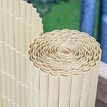 Papillon Artificial Split Bamboo Plastic Garden Fence Screening Roll