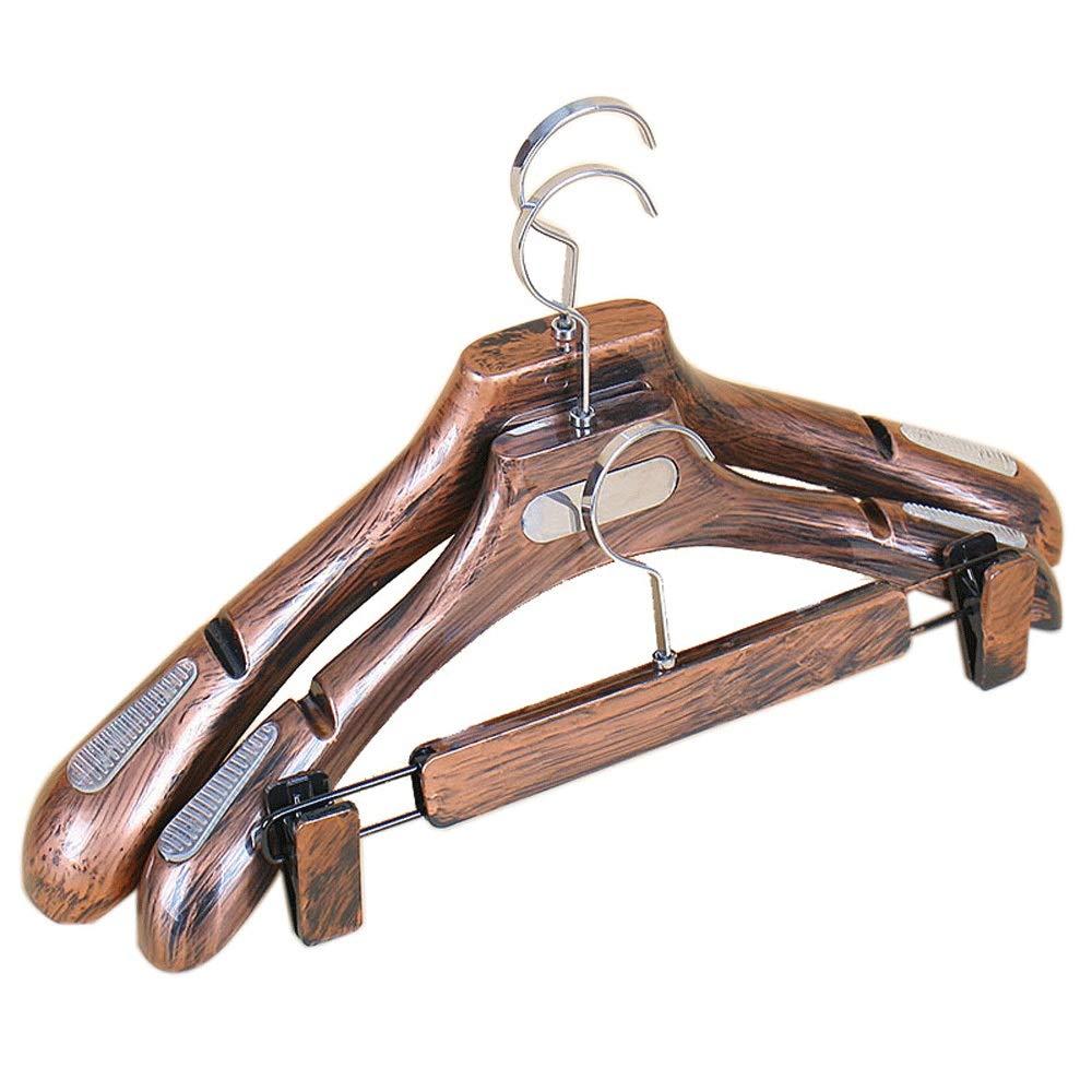 ハンガー 戸棚のための服のスーツのコートのズボンのジャケットのための15の頑丈な木製のハンガーのパック (Color : Retro, Size : Free size) B07SHX79P2 Retro Free size
