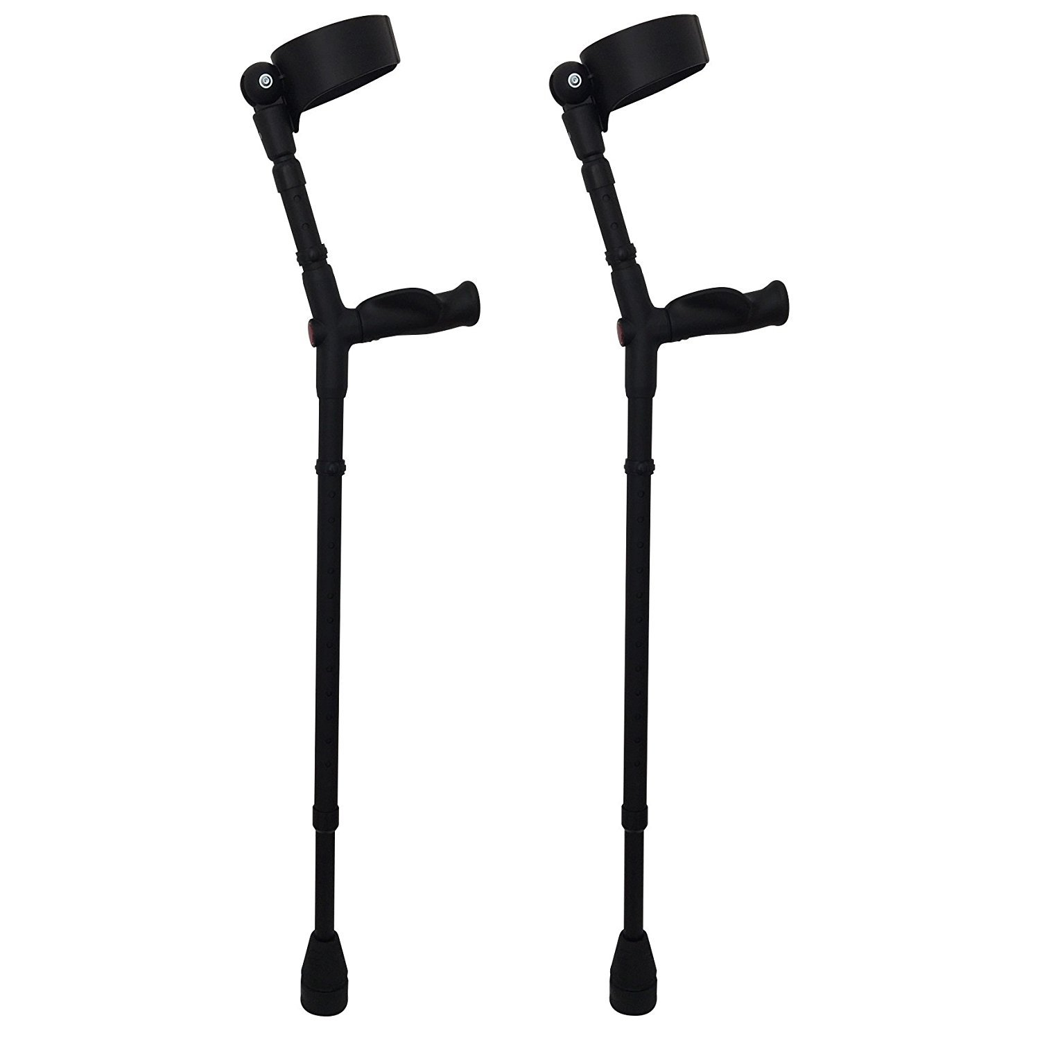 Thomas Fetterman Walk Easy 495 Adjustable Forearm Crutches Customizable with Choice of Tips (Adjustable with Tornado Rain Tips)