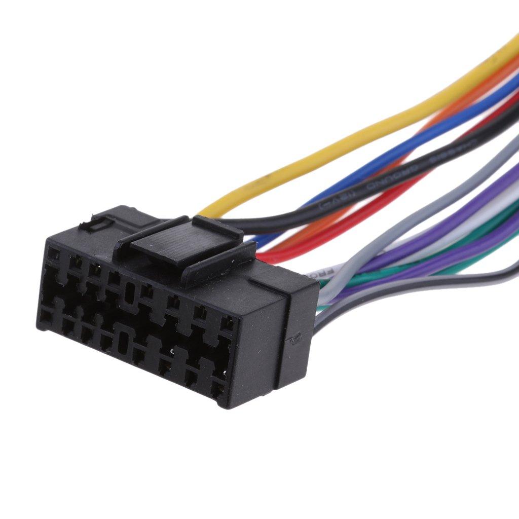 gazechimp Conexiones De Cableado Est/é De Radio De Coche De 16 Pines Al Telar De Conexiones ISO Para JVC