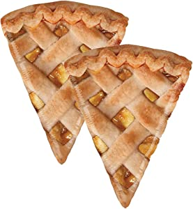 Set of 2 Realistic Apple Pie Slice 34