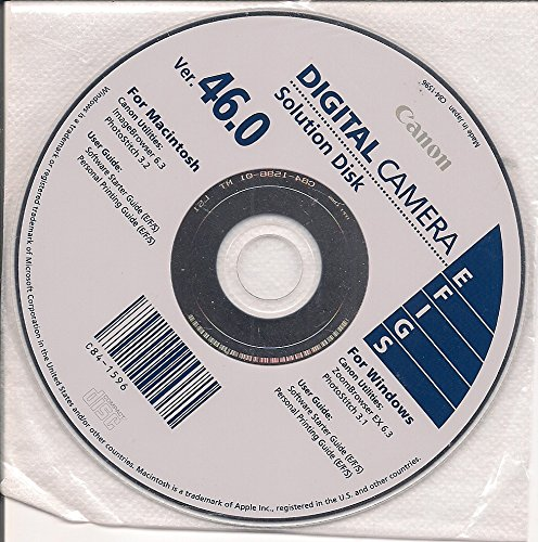 Canon Digital Camera Solution Disk Ver. 46.0 Digital Camera Solution Cd Rom