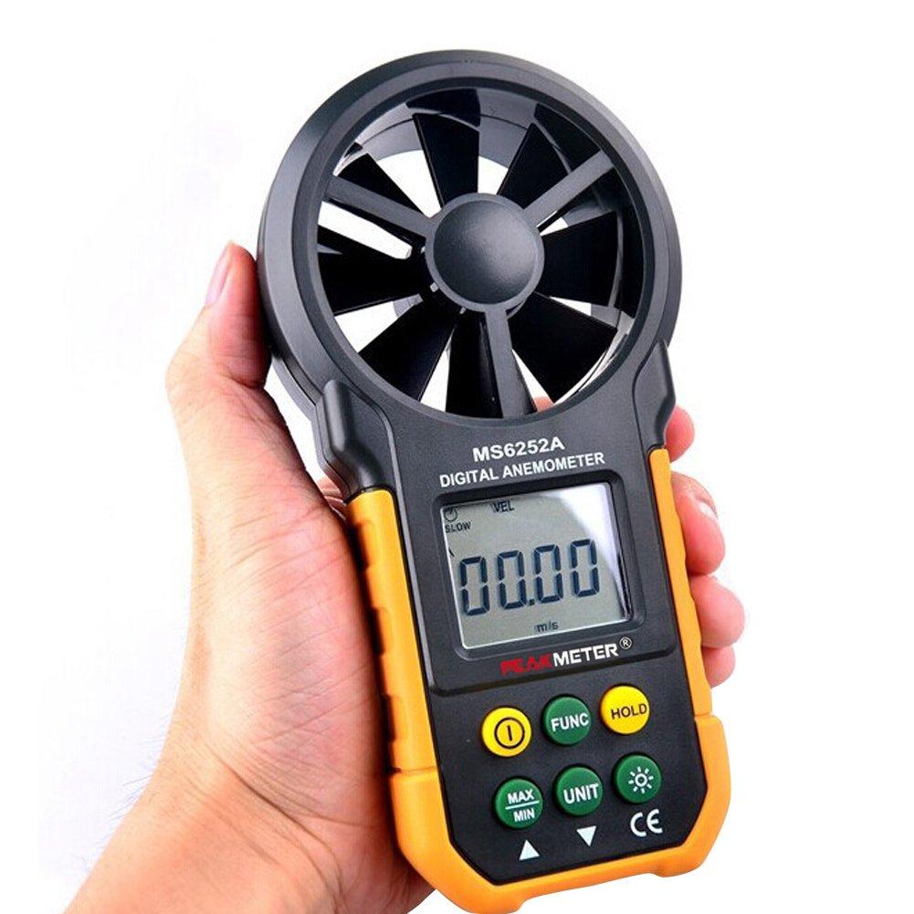 LOBZON LCD Digital Wind Speed Scale Gauge Meter Anemometer