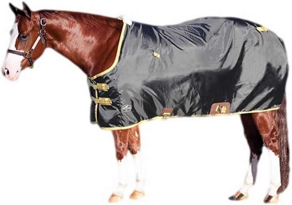Size:80 Color:Black Weaver Lightweight Nylon Horse Turnout Sheet