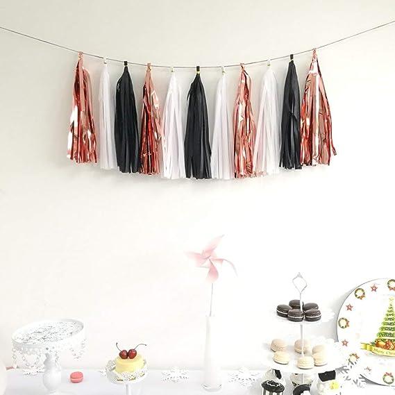 Guirnalda de 15 borlas de papel de seda para bodas, baby shower ...