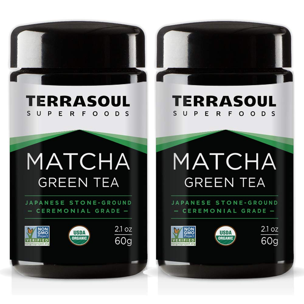 Terrasoul Superfoods Organic Matcha Green Tea (Ceremonial Grade in Miron Glass), 4.24 Ounces (120g) by Terrasoul Superfoods