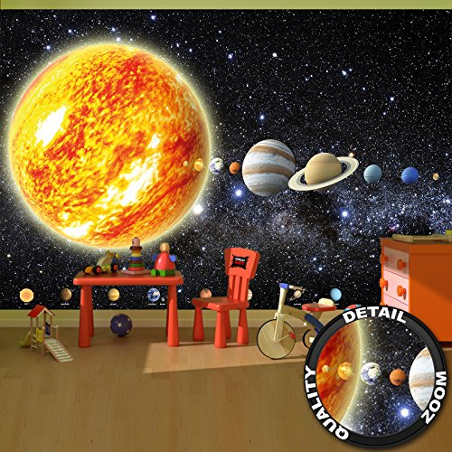 Cheap  Wallpaper Solar System Mural Decoration Galaxy Cosmos Space Universe All Sky Stars..