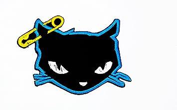 Parche bordado a mano para niños con dibujos animados de gatos negros y estampado de costura: Amazon.es: Hogar