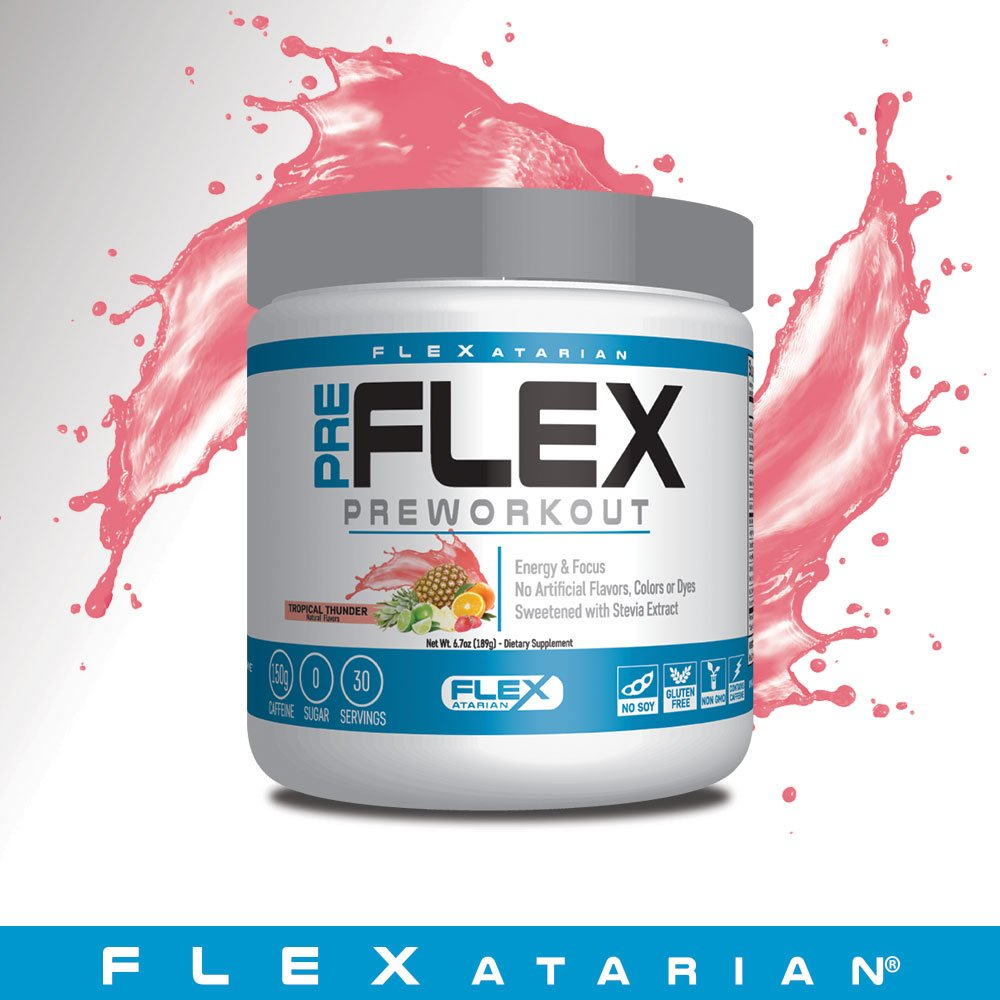 Flexatarian Pre-Flex, All-Natural Preworkout Formula, Tropical Thunder, 30 Servings by Flexatarian (Image #6)
