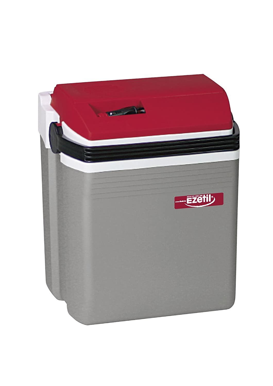 EZetil E21 Thermoelektrische Kühlbox 12V, Silber/ROT