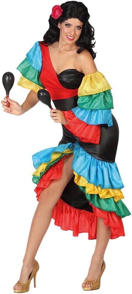 Atosa-26861 Disfraz Rumbera, multicolor, XS-S (26861): Amazon.es ...
