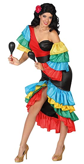 Atosa-26863 Disfraz Rumbera, multicolor, X-Large (26863): Amazon ...