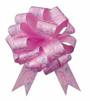 "Amazon.com: 10 – 5"" Feliz cumpleaños lazo rosa Pull ..."
