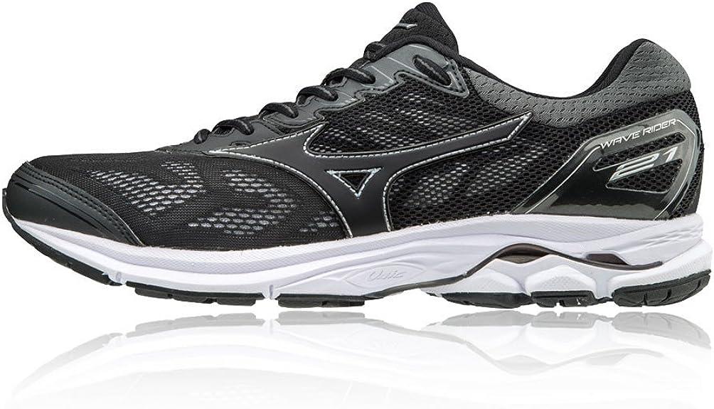 Mizuno Wave Rider 21, Zapatillas de Running para Hombre, Multicolor (Black/Black/Silver 09), 42 EU: Amazon.es: Zapatos y complementos