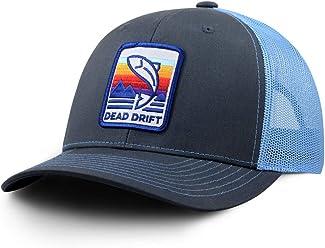 fd9e8843 Dead Drift Fly Fishing Hat Cassette Trucker Fly Grey and Blue