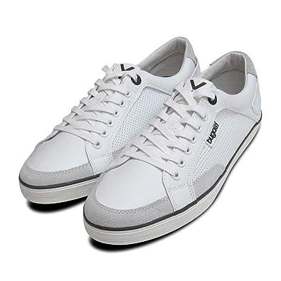 50073bb49da7 Mens White Leather Designer Trainers by Bugatti Sneakers-Mens UK 12 ...