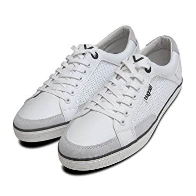 2f50e76dca4ab1 Mens White Leather Designer Trainers by Bugatti Sneakers-Mens UK 12 ...