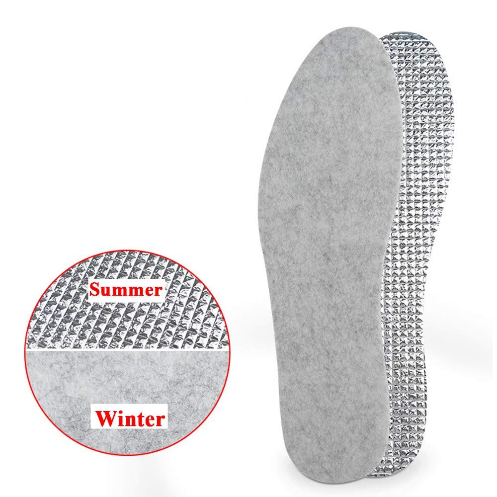 HY 1 Paio Unisex Soletta in Alluminio Soletta in Feltro Calore Assorbimento degli Urti Deodorante Solette Traspiranti Traspiranti e Traspiranti