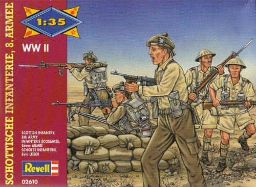 Revell - 1/35 Scottish Infantry 8th Army Africa WWII. ()