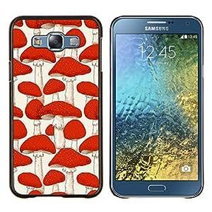 - minimalist mushroom meaning deep - - Modelo de la piel protectora de la cubierta del caso FOR Samsung Galaxy E7 E7000 RetroCandy