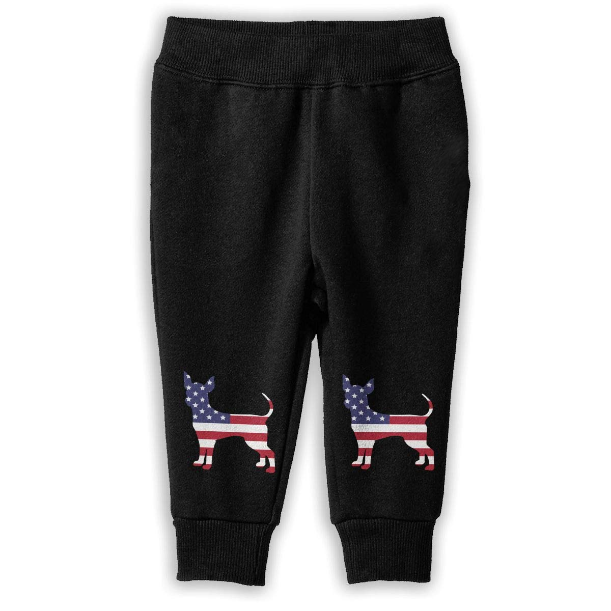 Childrens Fleece Pants NJKM5MJ American Flag Dog Sweatpants