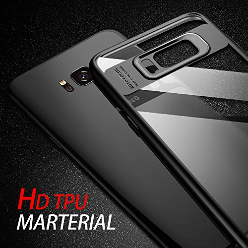vitutech Samsung Galaxy S8 Schutzhülle, Galaxy S8 Handyhülle TPU Bumper Case Premium Kratzfest Ultra Dünn Stoßfest Hülle für Samsung Galaxy S8 Case Cover – Schwarz