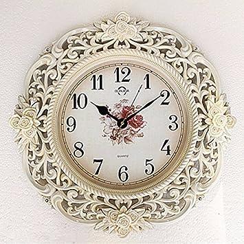 HONGLONG Kontinentales Luxus Uhren Living Art Wanduhr Minimalist Ruhig  Quarzuhr Die Wände Der Uhr Dekorieren,