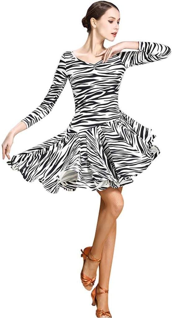Z&X Las Mujeres Latinos Baile De Salón Falda Vestido, Mangas ...