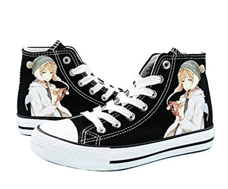 Noragami YATO Yukine Shoes Cosplay Canvas Shoes Sneakers Black/White
