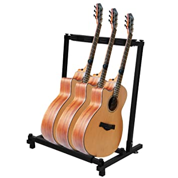 Multiware Guitar Stand Multiple Guitar Rack Holder Stand Electric Acoustic Bass 3 Way