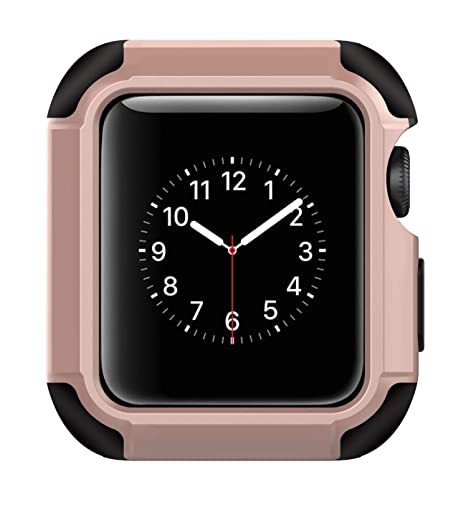 Voken Compatible con para Apple Watch Funda 38mm,TPU Suave Cubierta Parachoques Protectora Carcasa Compatible con para Apple iWatch Series 3/Series ...