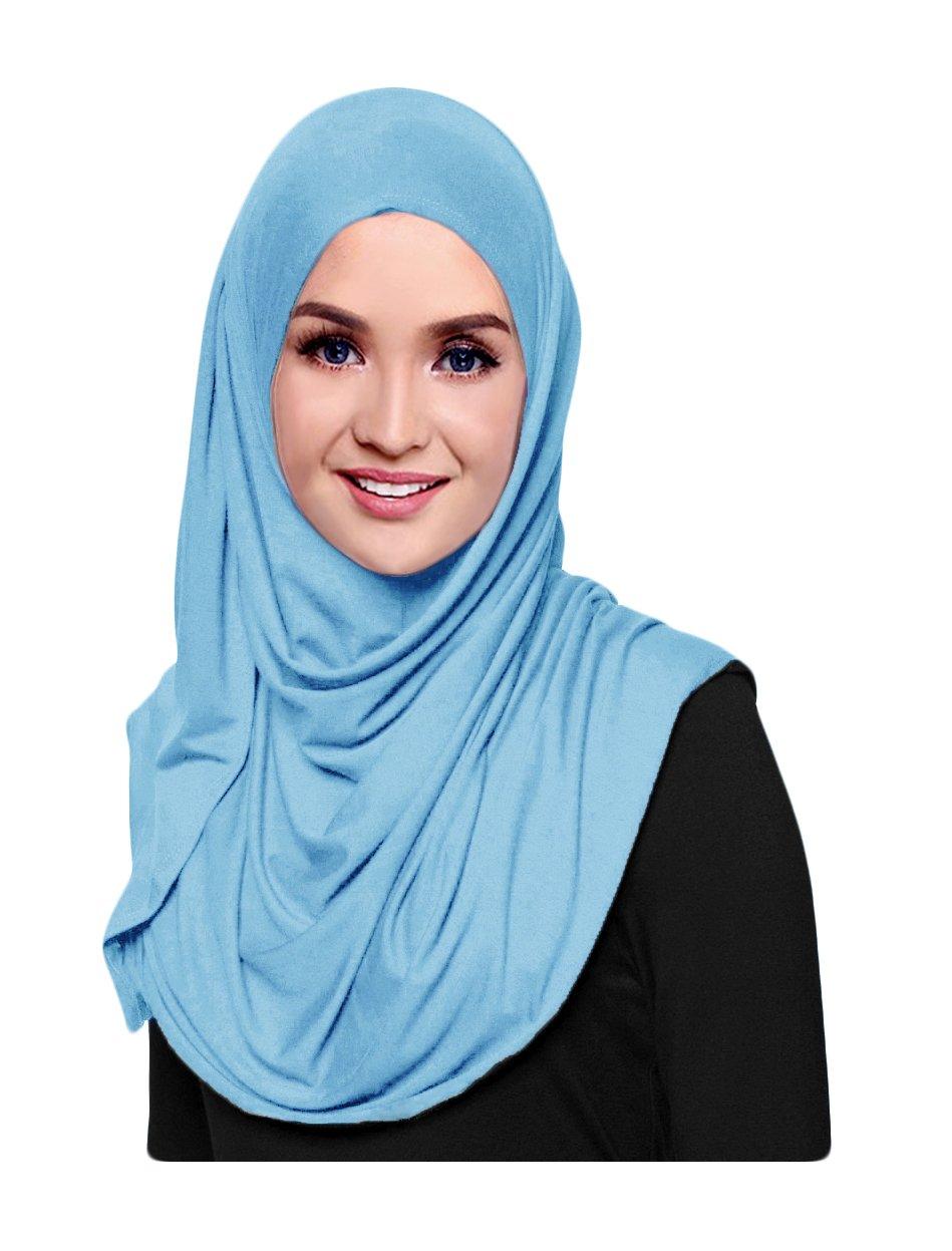 Hana's Womens Plain Instant Cotton Jersey Lightweight Hijab Scarf INSLDJ-6