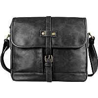 SPAHER Vintage Leather Messenger Bag for Men Women Shoulder Bag Business Satchel Crossbody Ipad Handbag Travel Bag…