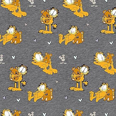 Stoffbreite Garfield Gatos Beige Oso Naranja Marrón Gris - Jersey biostoff biojersey - 145 cm de Ancho - 50 cm por Unidad: Amazon.es: Hogar