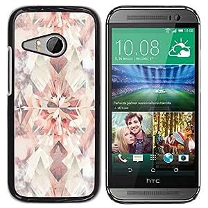 Be Good Phone Accessory // Dura Cáscara cubierta Protectora Caso Carcasa Funda de Protección para HTC ONE MINI 2 / M8 MINI // Diamond Floral Pattern Pastel Watercolor